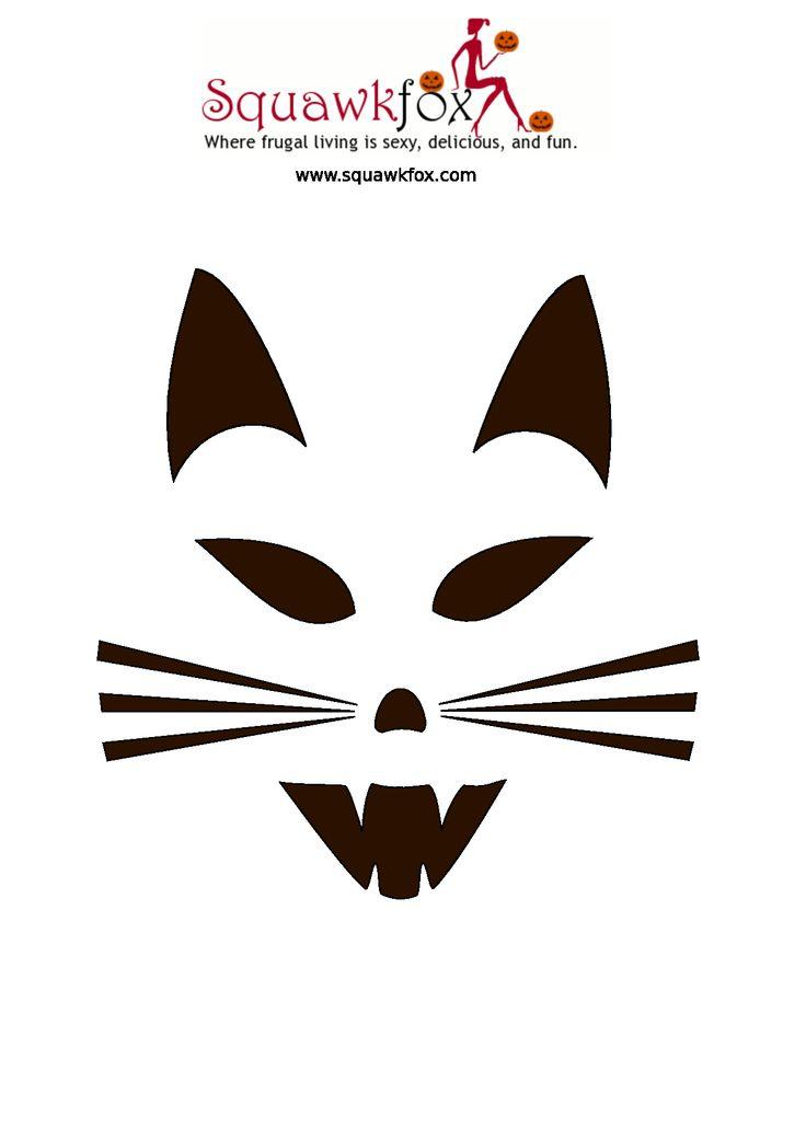 Free Printable Pumpkin Carving Patterns | Printable Halloween Pumpkin Templates Free Stencils - PDF