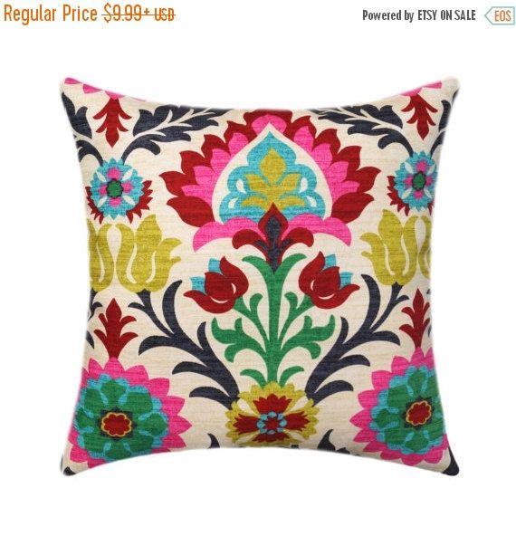 Waverly Santa Maria Desert Flower Pillow Cover, Floral Throw Pillow, Hot Pink…