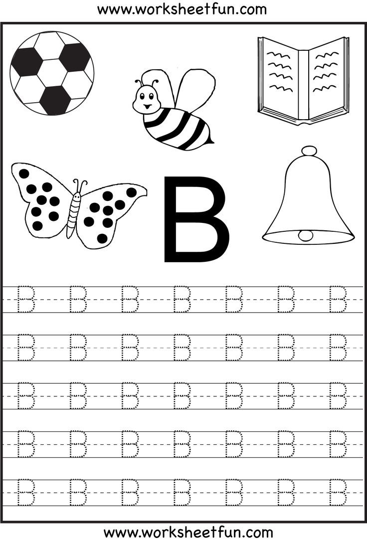 Worksheets Letter B Worksheets Kindergarten best 25 letter b worksheets ideas on pinterest free alphabet printable tracing for kindergarten 26 worksheets