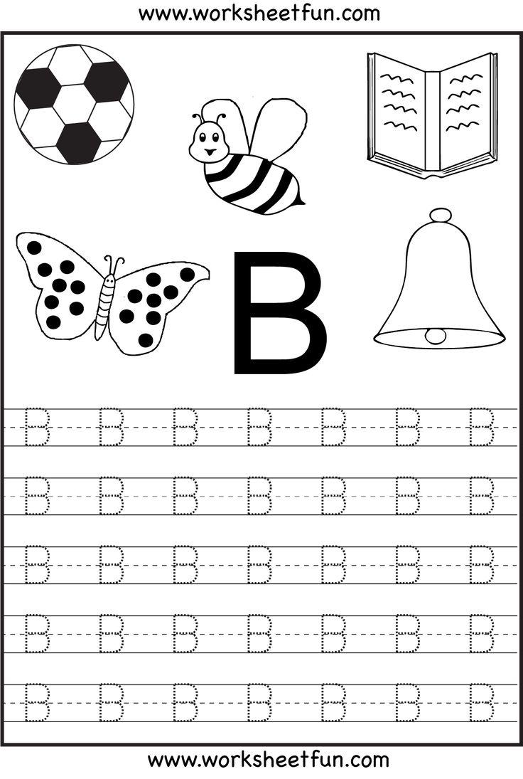 For Kindergarten Worksheetfun : Free printable letter tracing worksheets for kindergarten