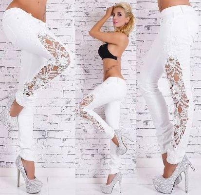 Dámské bílé džíny