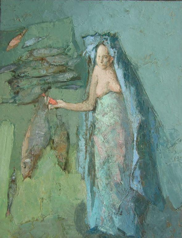 green - verde - woman - fish - mulher - peixe - Artodyssey: Olga Geoghegan…