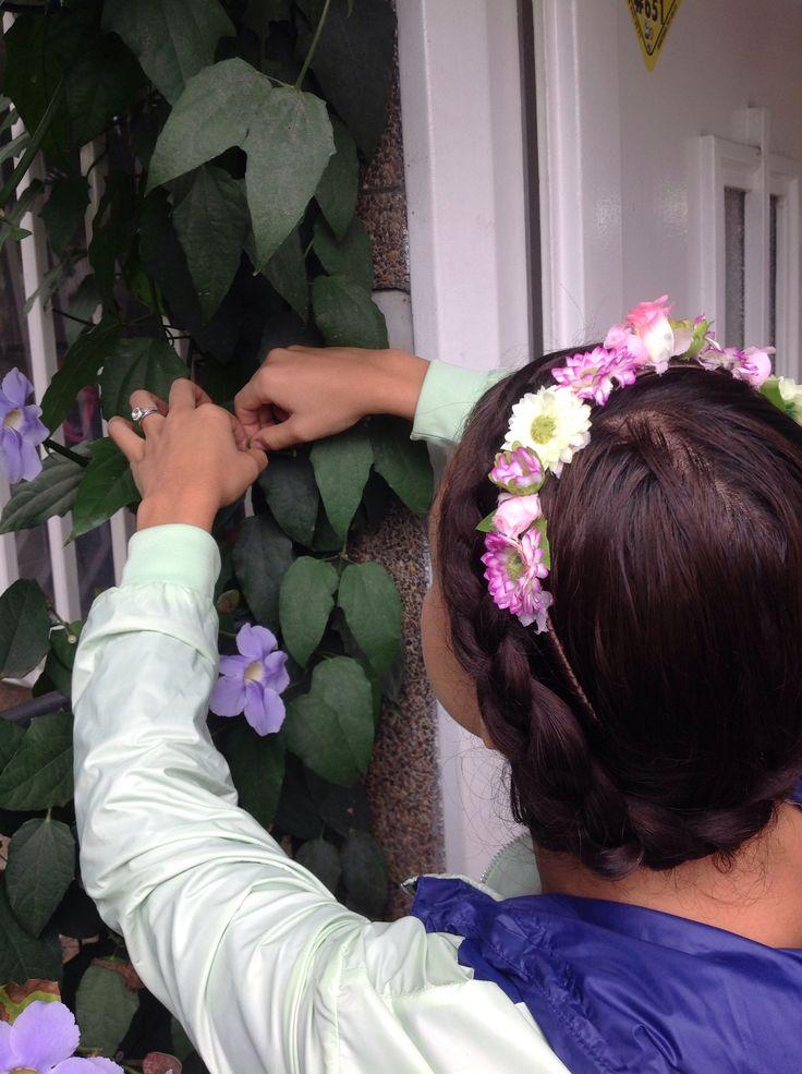 Corona de flores marca Masía Simonetta