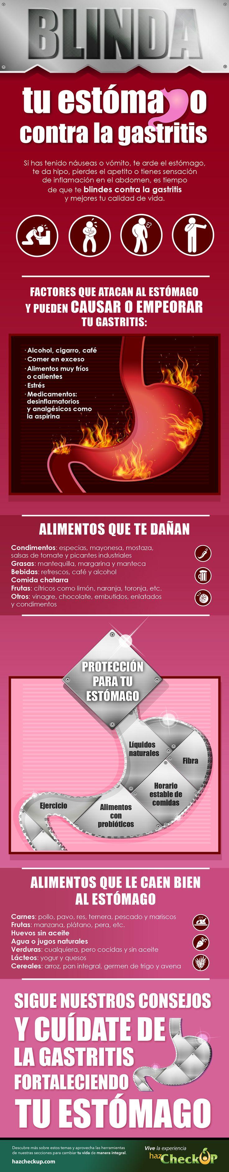 Alimentos que provocan gastritis | Tratamiento #gastritis #infography #estómago #stomach #salud #infografía #infografia #infographics