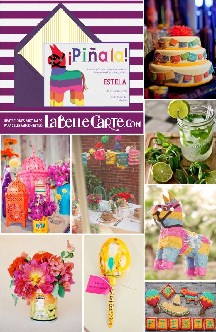 Decoracion Estilo Mexicano Para Fiesta ~ Baby Shower mexicano, Fiesta mexicana, ideas baby shower mexicano Para