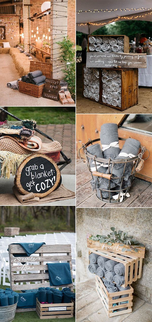21 Great Ways To Display Blankets For Fall And Winter Weddings Oh Best Day Ever Rustic Country Wedding Blanket Display Ideas Wedding Blankets