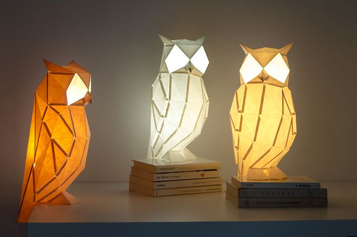 owl paperlamps gufi accesi, DESIGN