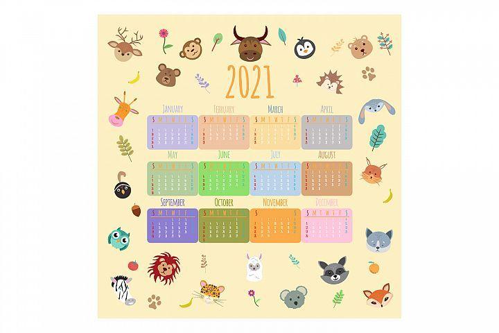 Pin By Kodhibanks On Calendar Template In 2020 Calendar Design Illustration Design Cute Animals