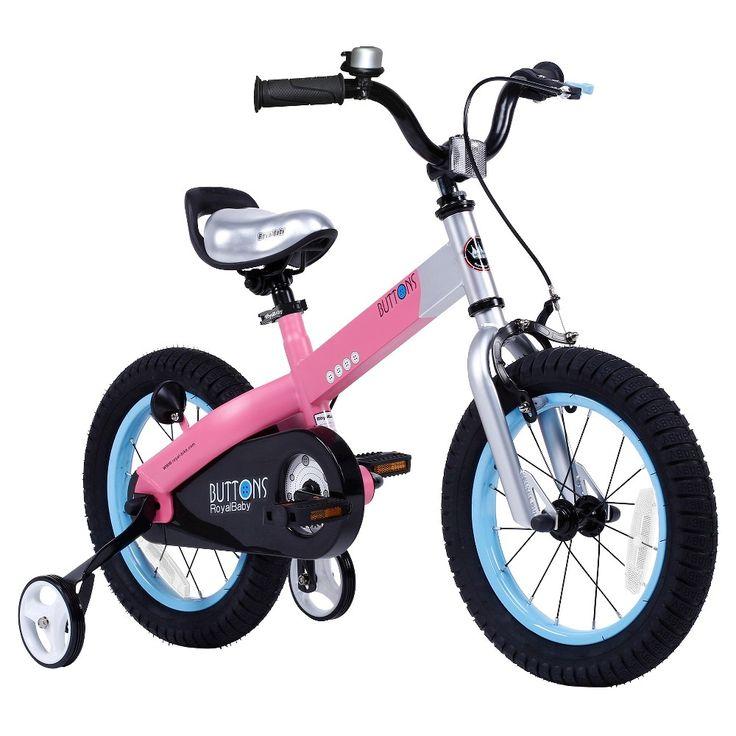 Royal Baby Girls Matt Buttons 14 Bmx Bike - Pink