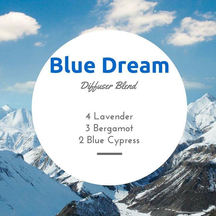 Blue Dream Diffuser Blend: Lavender, Bergamot, Blue Cypress