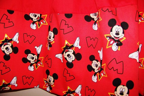 MICKEY MOUSE COLORBLOCK Valance Boys Curtain by ANMARIKEDECORPLUS