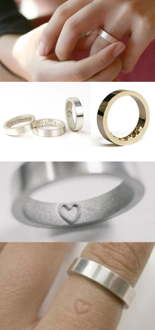 impression ring. it leaves the impression of whatever design is underneath it onto your finger.