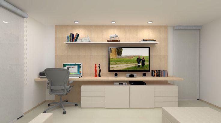 sala de tv e home office - Pesquisa Google