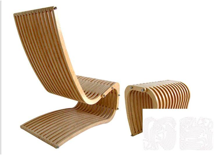 Кресло из фанеры | Интерьер и мебель | Чертежи в масштабе.ру
