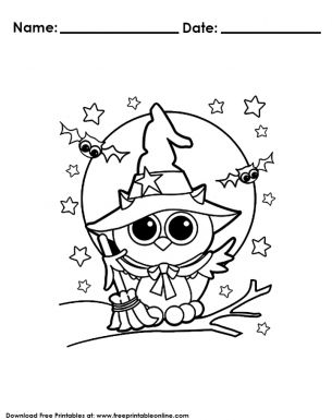 Owl Halloween Coloring Pages | Halloween coloring sheets ...
