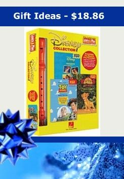 This would make a great Christmas gift for any Disney lover for only $18.86. This is a great holiday gift idea. Disney Collection - Learn & Play Recorder Pack contains a high-quality recorder, plus three terrific Recorder Fun! books loaded with 16 huge Disney hits.