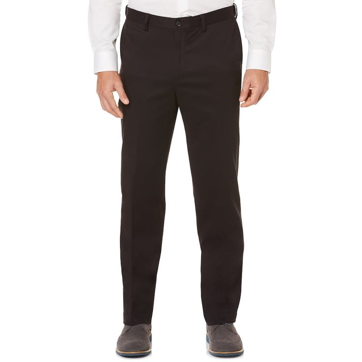 Men's Savane Ultimate Straight-Fit Performance Flat-Front Chino Pants, Size: 40X34, Grey (Charcoal)
