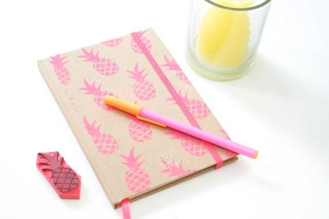Astrid Things: Ananas Agenda DIY