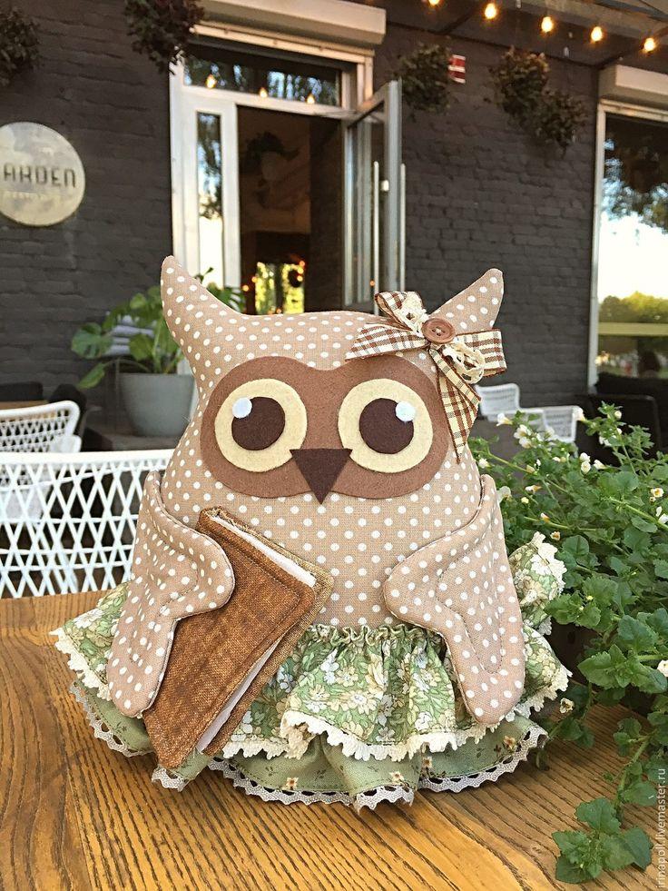Купить Совушка Фрита - оливковый, сова, сова игрушка, интерьер детской, сова игрушка купить