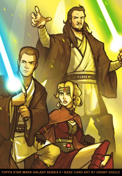 Obi-Wan, Qui-Gon and Satine during the Mandalorian Civil War