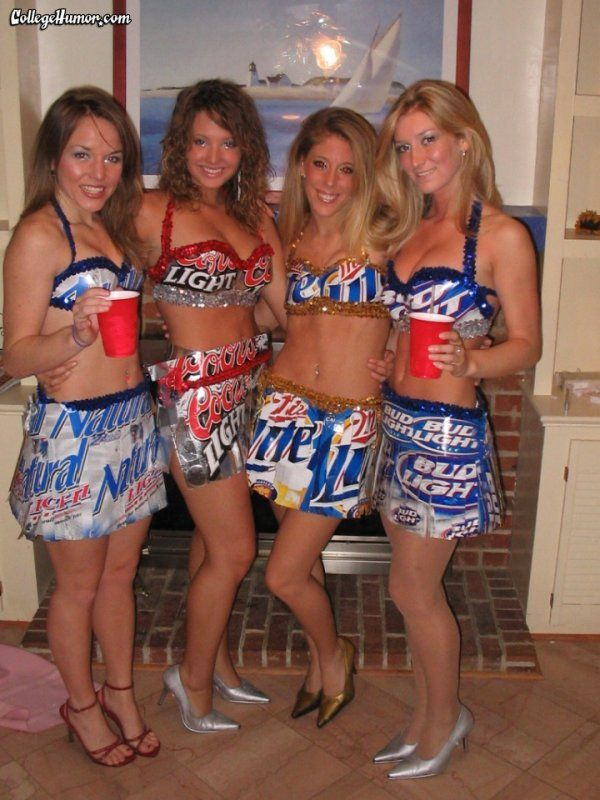 actually made the costume out of beer boxes true beer bitches - Halloween Costumes Parties