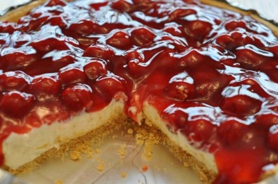 Cherry Cream Cheese Pie~ Grandmama used to make this around Christmas time and she'd send an entire pie to our house! This is so incredibly easy to make.