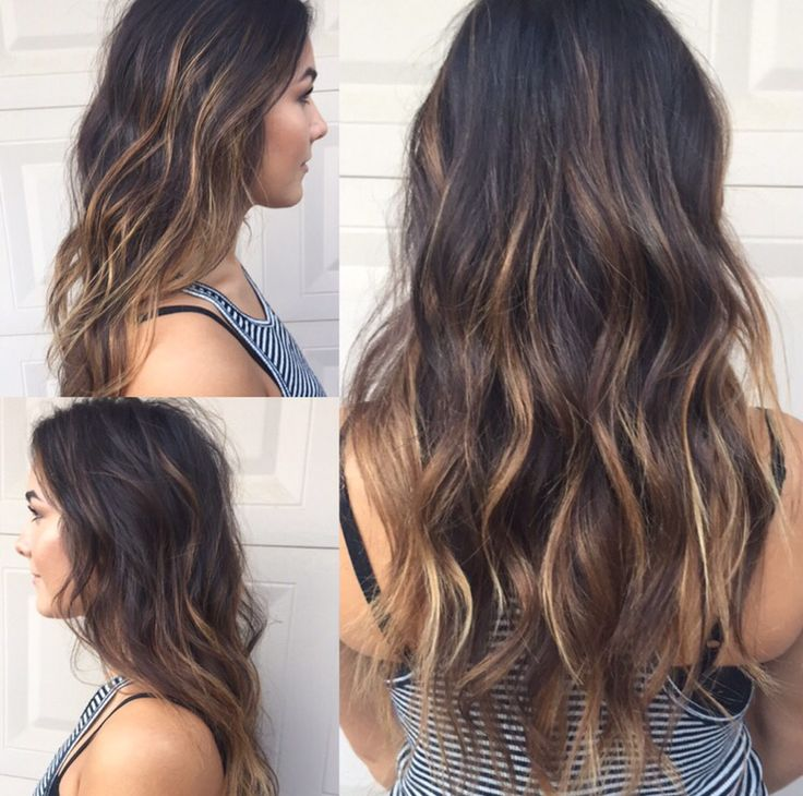 Carmel balayage long layers cut