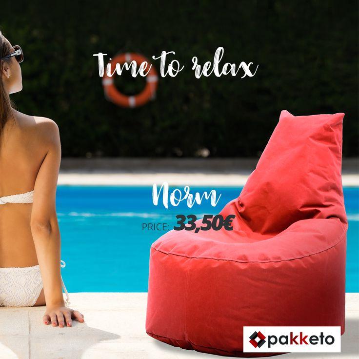 Η πιο cool προσθήκη για το γραφείο, το living room, το υπνοδωμάτιο ή ακόμα και το μπαλκόνι είναι η πουφ πολυθρόνα Norm #pakketo με αδιάβροχο ύφασμα, σε hot red χρώμα!  Ανανέωσε τώρα τον χώρο σου εδώ http://bit.ly/pakketo_Puf_Norm