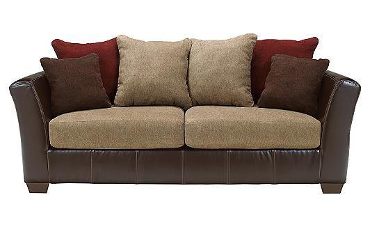 Ashley Furniture Sanya Mocha Sofa Living Room