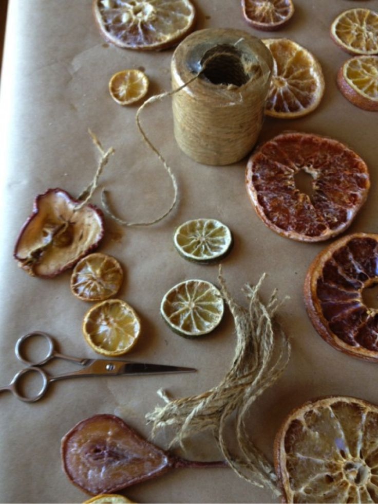 Old-fashioned fruit ornaments Tutorial                                                                                                                                                                                 More