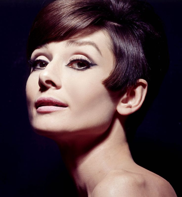 audrey hepburn. I love the shape of this cut