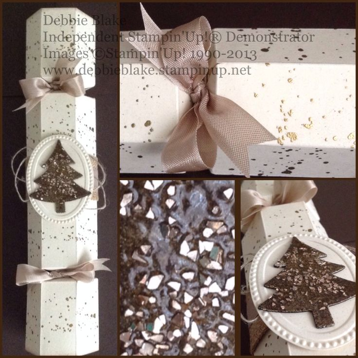 Gold Frosted Bon-Bons. Made with the Envelope Punch Board by Debbie Blake Independent Stampin' Up! Demonstrator.