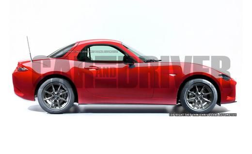 OH, YES: This Is What a 2016 Mazda MX-5 Miata Coupe Would Look Like - Photo Gallery of Car News from Car and Driver - Car Images. September 10, 2014 #Mazda #Miata #MX5 #Rvinyl  =========================== http://www.rvinyl.com/Mazda-Accessories.html