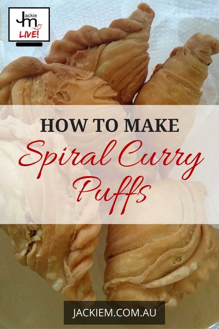 Learn how to make homemade spiral curry puffs. Click here to access the full recipe and video by Jackie M!