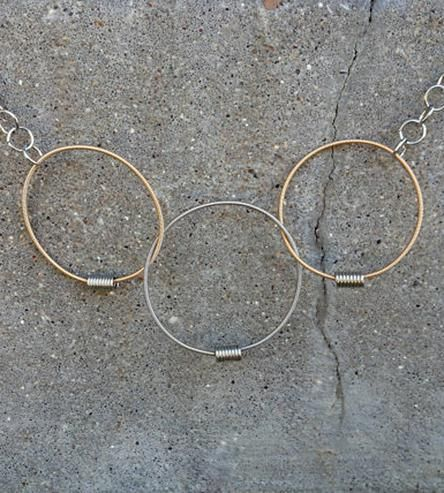Recycled Guitar String Links of Love Necklace | Jewelry Bracelets | eye on the sparrow | Scoutmob Shoppe | Product Detail