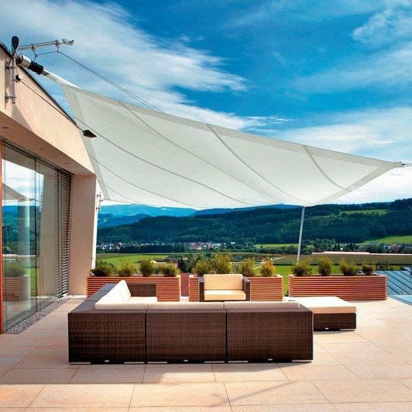 Modern Terrace Roofing Ideas Awning Freestanding Seating Area Roofingnight Roofingbar Terraceroofingideas Terrasse Exterieure