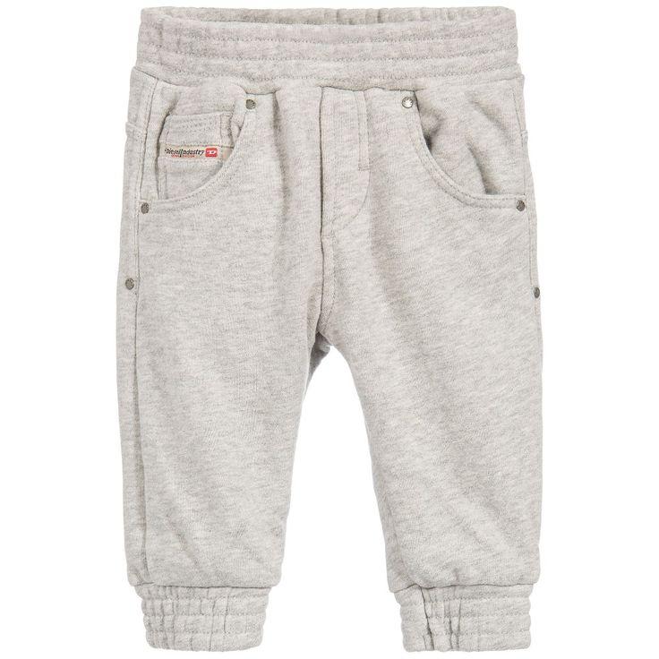 Diesel Kids Baby Boys Grey Marl Tracksuit Trousers  at Childrensalon.com