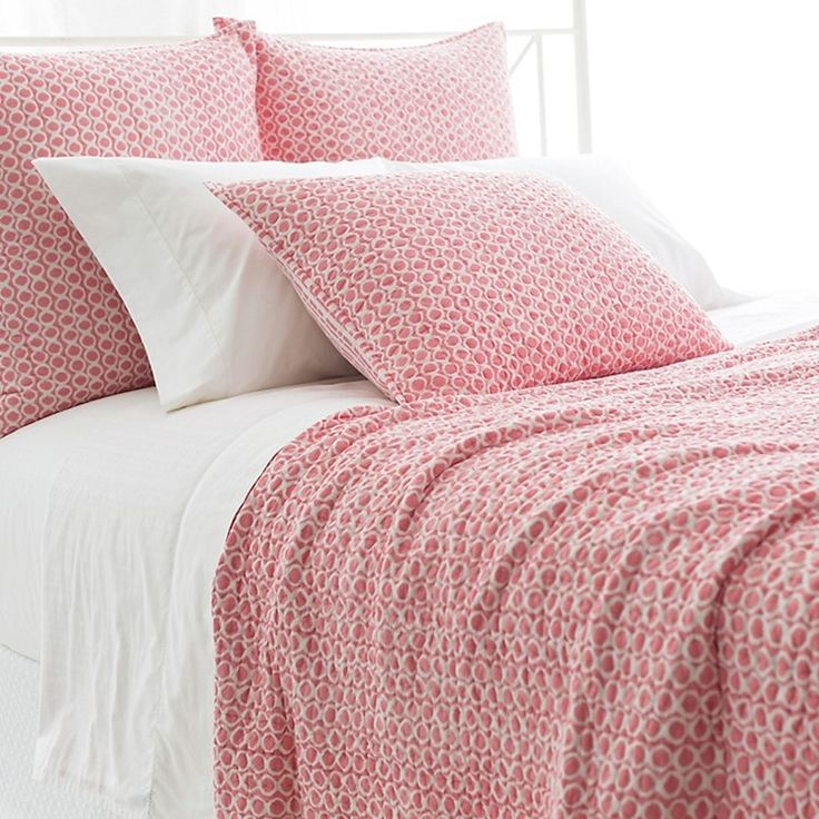 Tyler Quilt & Quilted Sham By Pine Cone Hill Coral quilt
