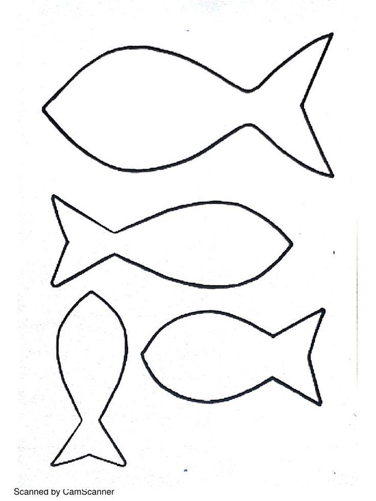Gabarit, patron pour poisson d'avril ! Bricolage enfant maternelle.