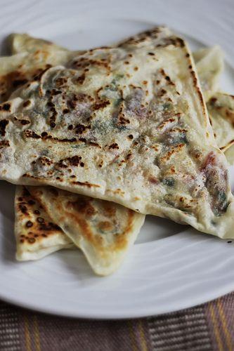 Gözleme with Smoked Eggplant, Goat Cheese and Mint Olga Irez Delicious Istanbul
