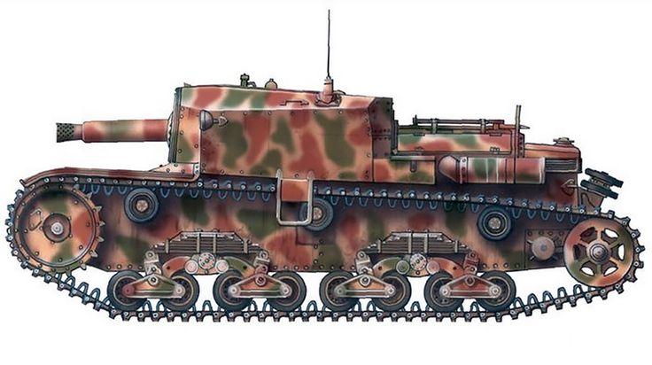 """""""Semovente M40 da 75/18, Squadrone Carri M, Gruppo Squadroni Corazzati 'San Giusto', RSI, avril 1945"""""""