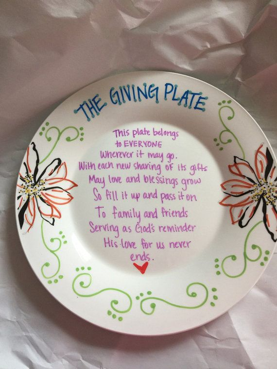The Giving Plate Custom Plate by DavisTwinsDesign on Etsy