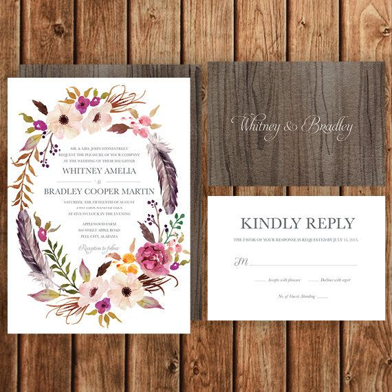 Best 20+ Bohemian wedding invitations ideas on Pinterest