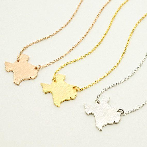 Texas collana / collana di stato mappa mappa gioielli di CreBijoux