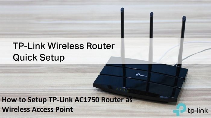 How To Setup Tp Link Ac1750 Router As Wireless Access Point In