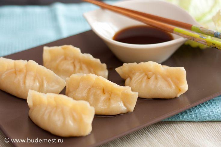 Китайские #пельмени с креветками на пару #рецепты #кулинария
