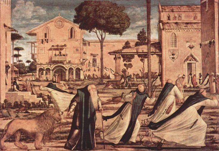 San Girolamo e il leone nel convento, 1502, 141x211 cm