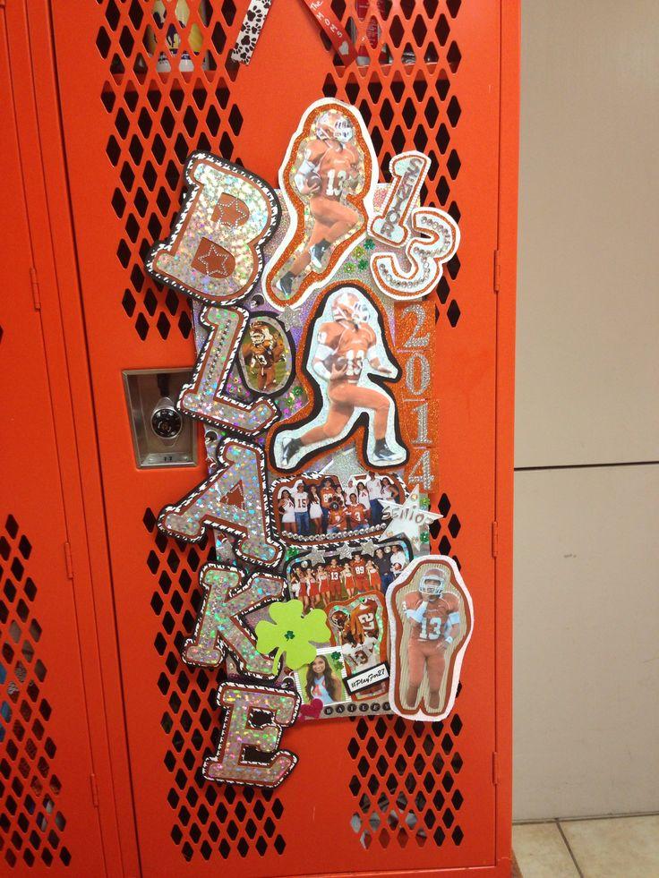 Locker Decoration Made By Bailey AHS CHEER Pinterest Locker Decoratio