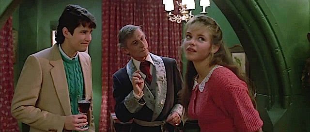 Fright Night 2.  William Ragsdale, Roddy McDowall and Traci Lin. #josephporrodesigns