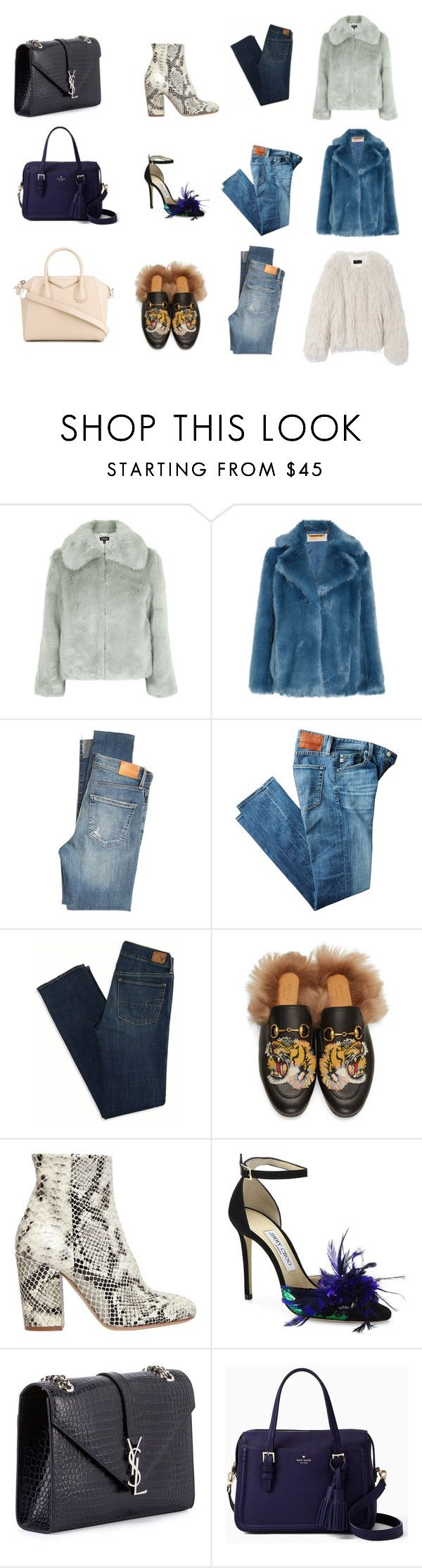 """""""ootd's"""" by skybluepatricia on Polyvore featuring Topshop, MICHAEL Michael Kors, Nili Lotan, Citizens of Humanity, AG Adriano Goldschmied, American Eagle Outfitters, Gucci, Strategia, Jimmy Choo and Yves Saint Laurent"""